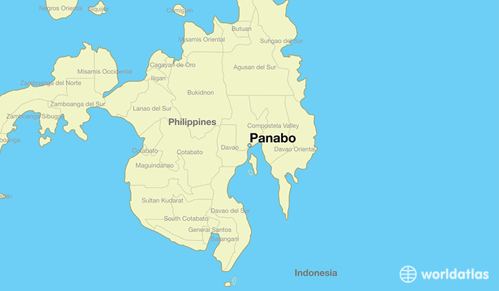 map showing the location of Panabo