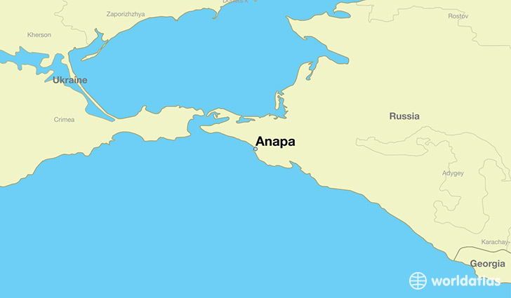 map showing the location of Anapa