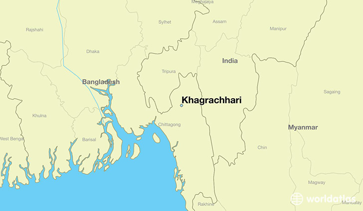 map showing the location of Khagrachhari