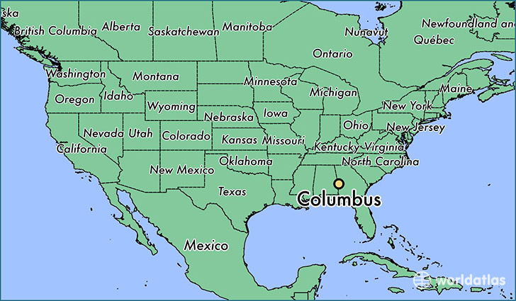 Where is Columbus GA Where is Columbus GA Located in The