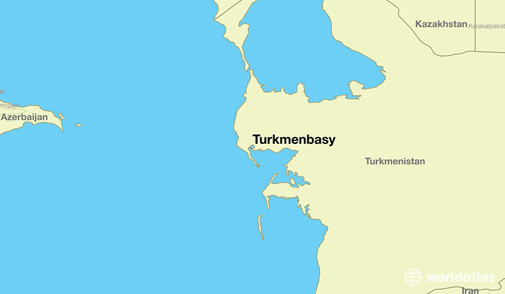 map showing the location of Turkmenbasy