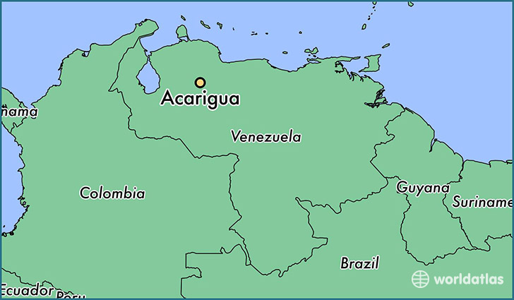 map showing the location of Acarigua