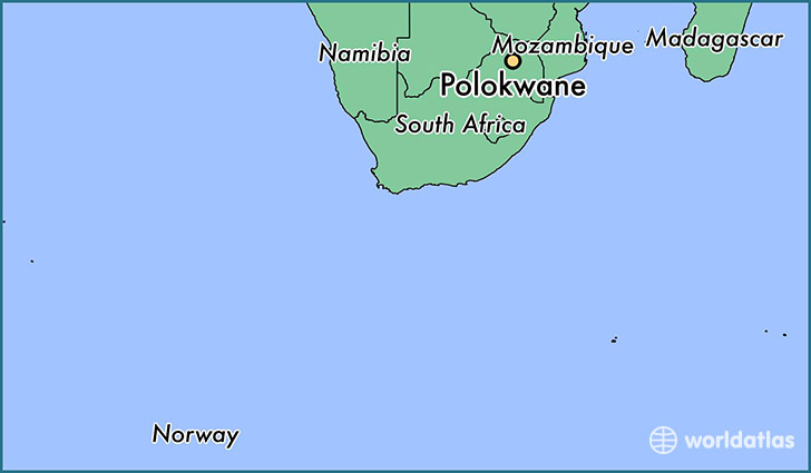 map showing the location of Polokwane