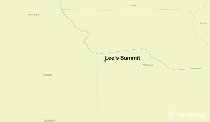 map showing the location of Lee's Summit