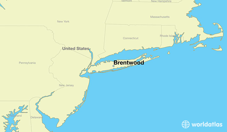 map showing the location of Brentwood
