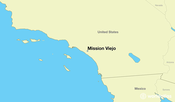 map showing the location of Mission Viejo