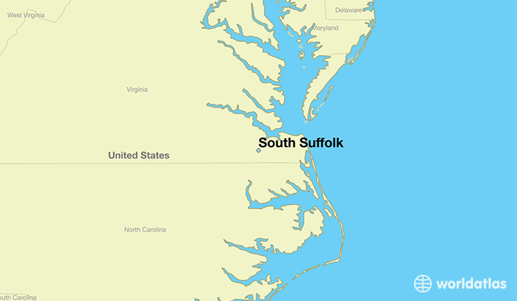 South Virginia Map.Where Is South Suffolk Va South Suffolk Virginia Map
