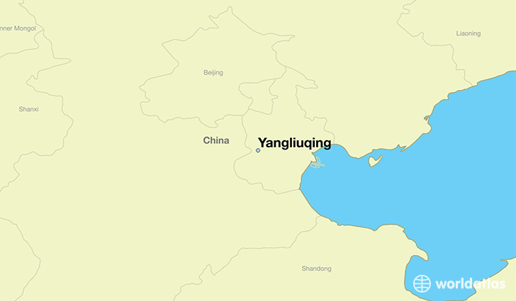 map showing the location of Yangliuqing