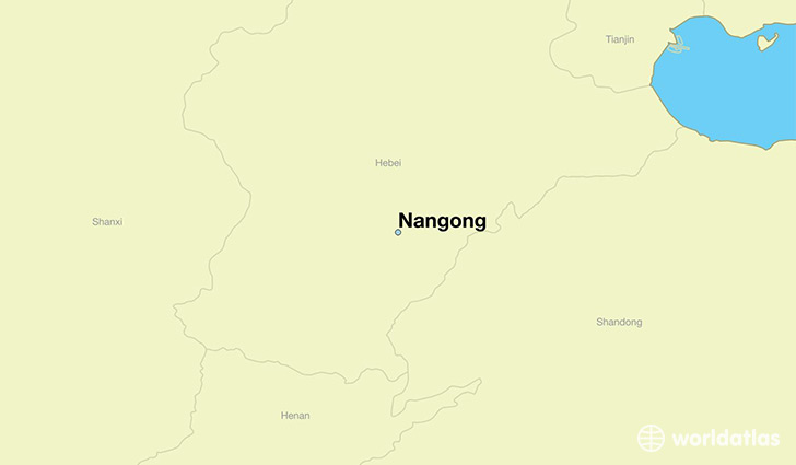 map showing the location of Nangong