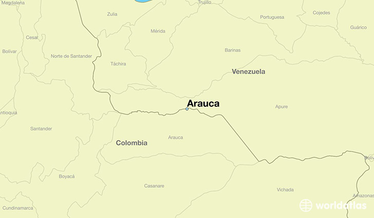 map showing the location of Arauca