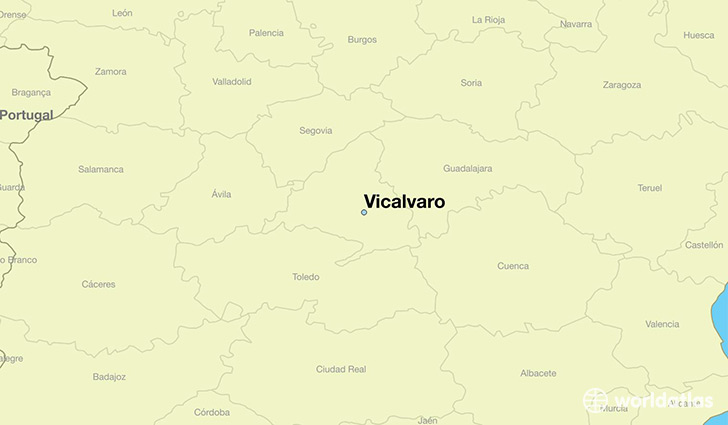 map showing the location of Vicalvaro