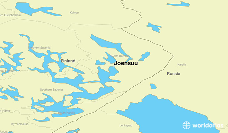 map showing the location of Joensuu