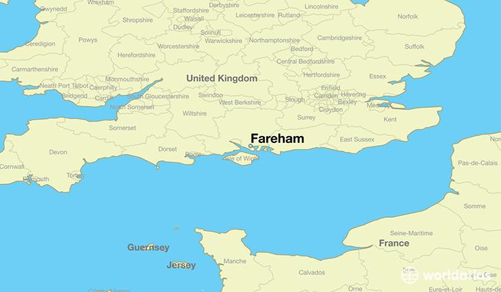 Where is Fareham England Fareham England Map WorldAtlascom