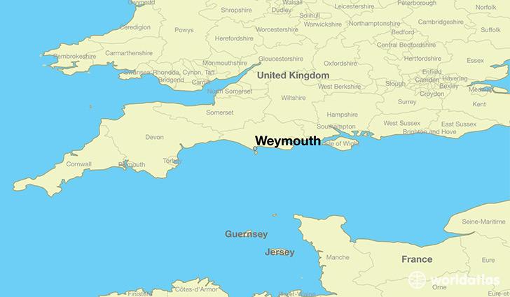 Where Is Weymouth England Weymouth England Map