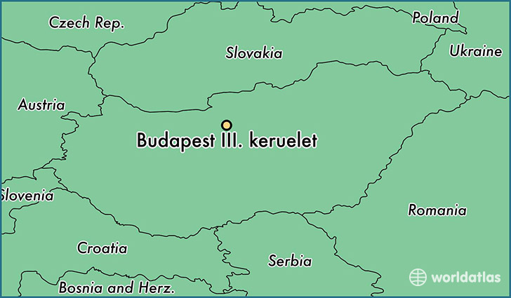 map showing the location of Budapest III. keruelet