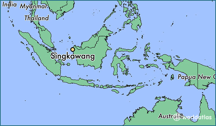 map showing the location of Singkawang