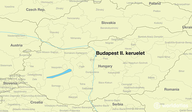 map showing the location of Budapest II. keruelet
