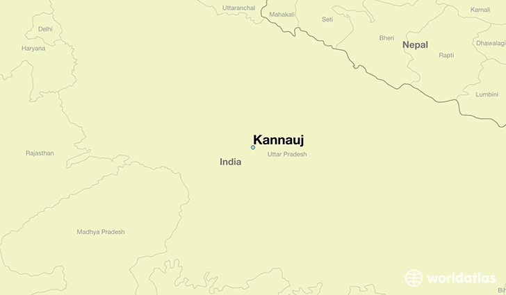 map showing the location of Kannauj