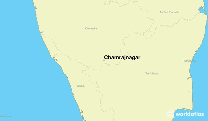 map showing the location of Chamrajnagar