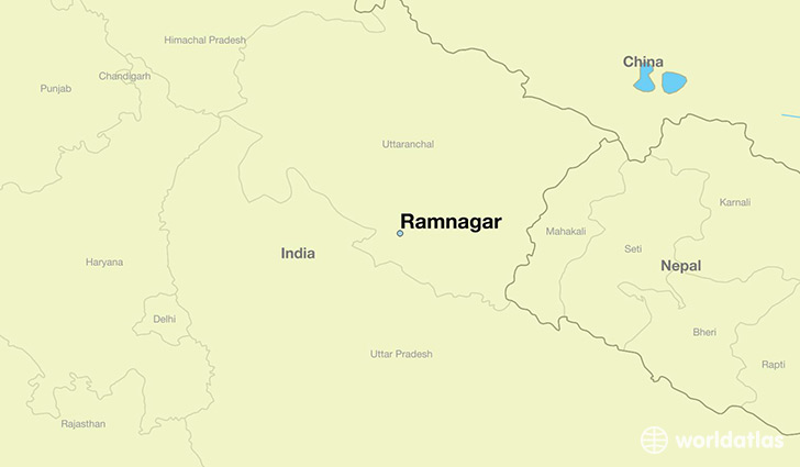 map showing the location of Ramnagar