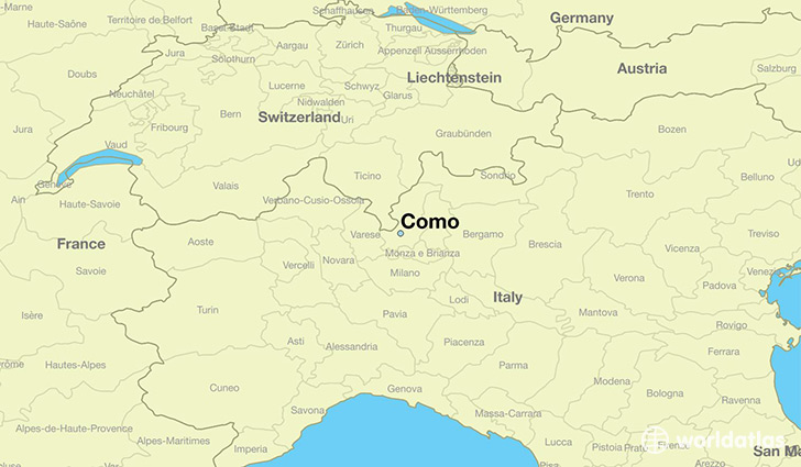 map showing the location of Como