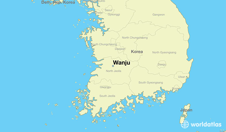 map showing the location of Wanju