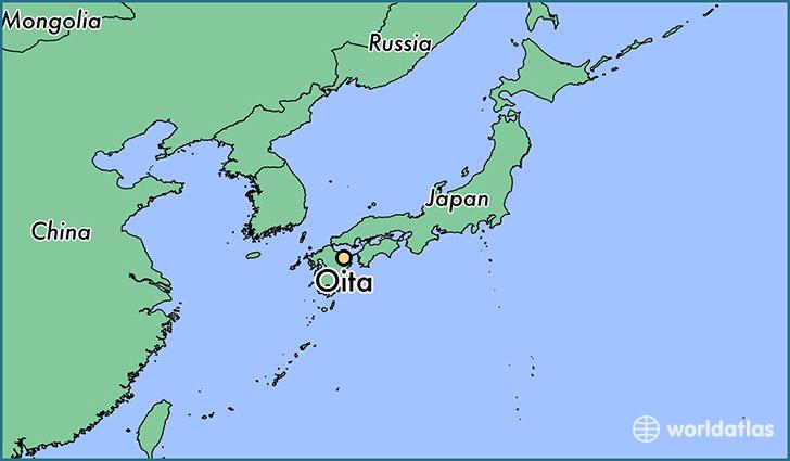 Where is Oita Japan Oita Oita Map WorldAtlascom