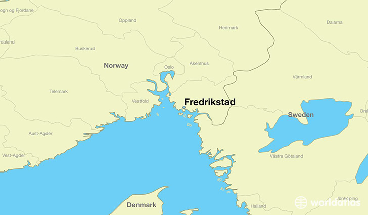 map showing the location of Fredrikstad