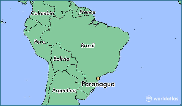 map showing the location of Paranagua