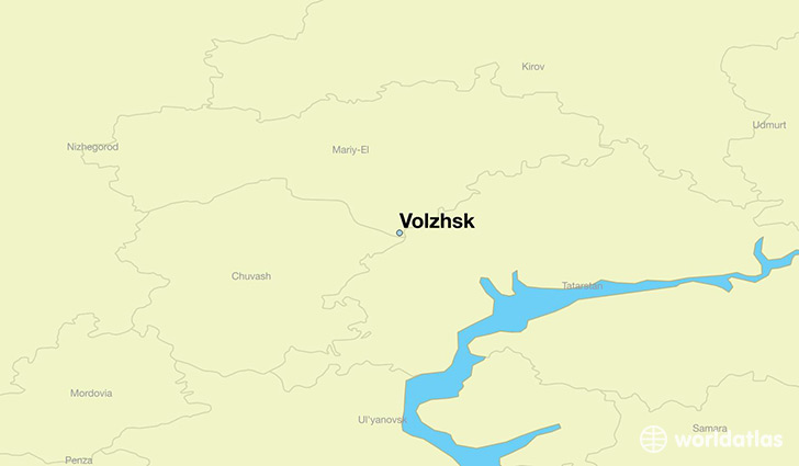 map showing the location of Volzhsk