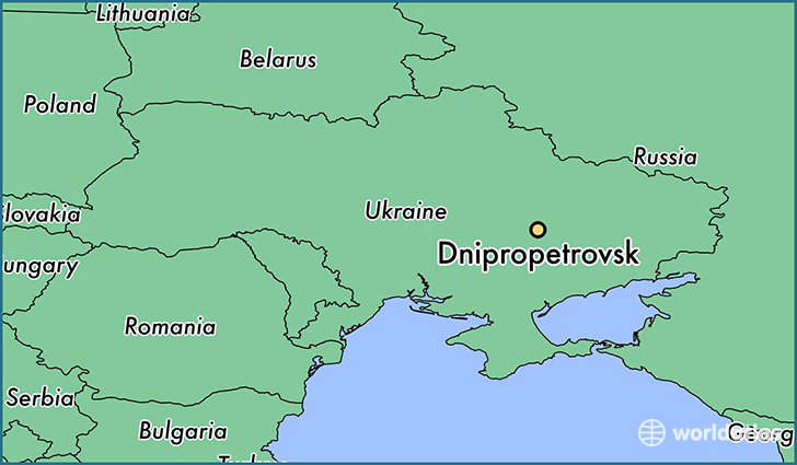 Image result for Dnipropetrovsk map