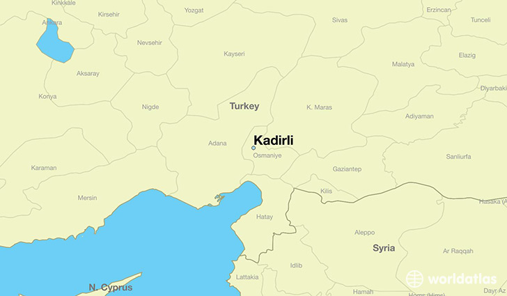 map showing the location of Kadirli