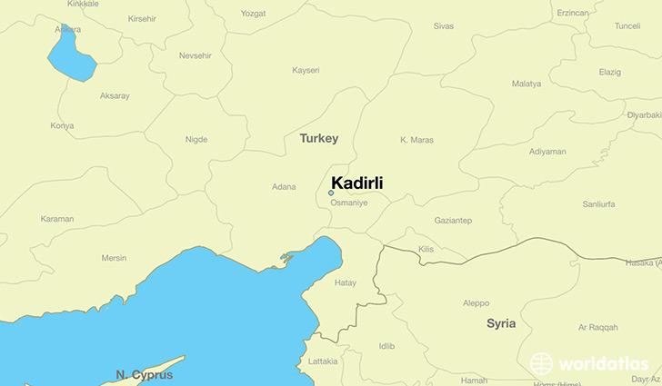 Where is Kadirli Turkey Kadirli Adana Map WorldAtlascom