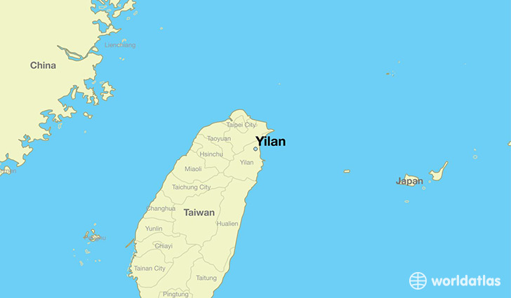map showing the location of Yilan