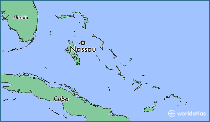 Where is Nassau The Bahamas Nassau New Providence Map