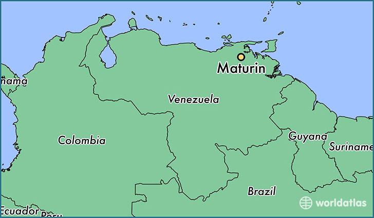 map showing the location of Maturin
