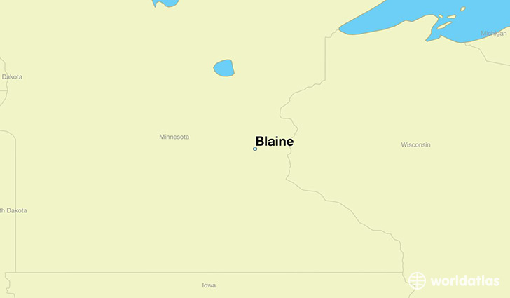 map showing the location of Blaine