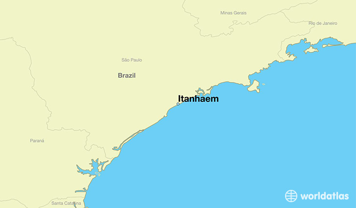 map showing the location of Itanhaem