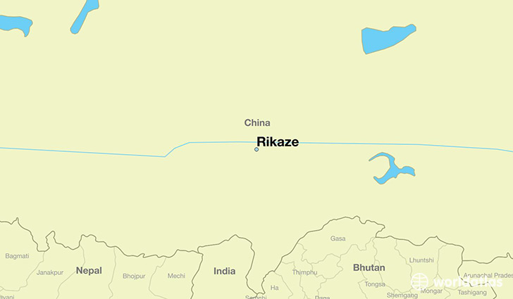 map showing the location of Rikaze