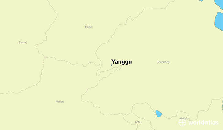 map showing the location of Yanggu