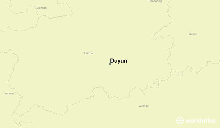 map showing the location of Duyun