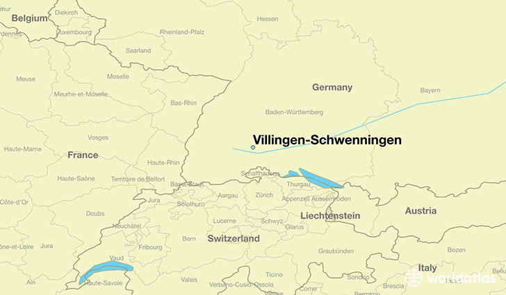 map showing the location of Villingen-Schwenningen