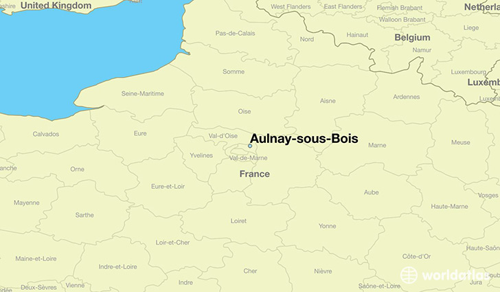 map showing the location of Aulnay-sous-Bois