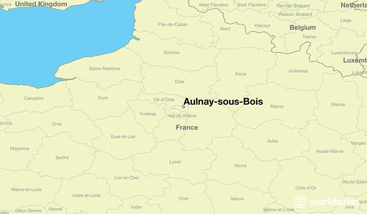 Where is AulnaysousBois, France?  Where is Aulnaysous  ~ Aulnay Sous Bois Carte