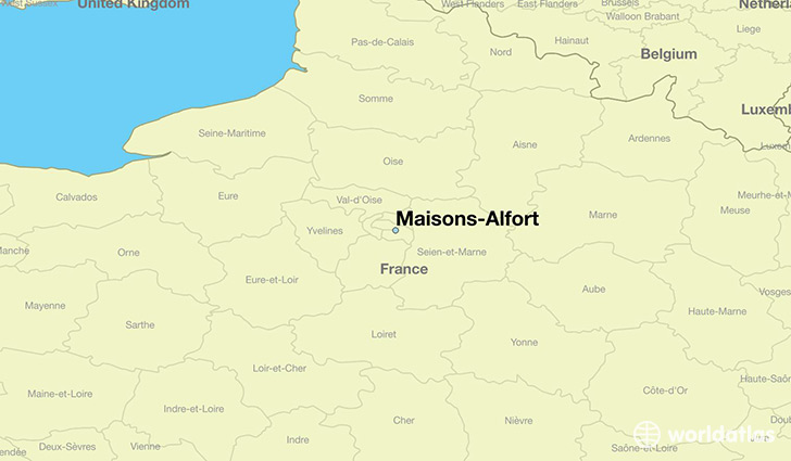 map showing the location of Maisons-Alfort