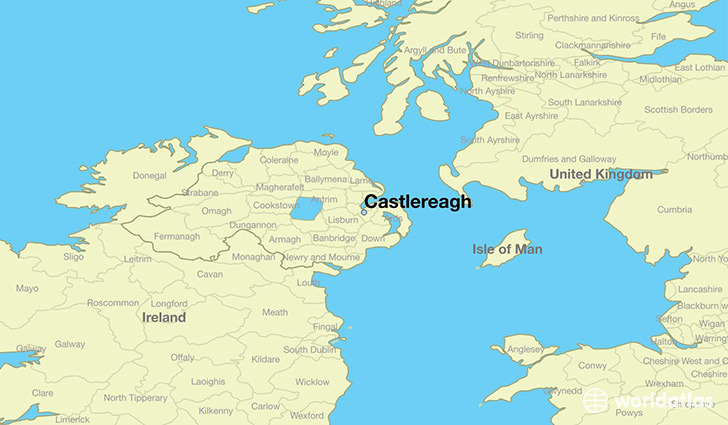 Map Of North And South Ireland.Where Is Castlereagh Northern Ireland Castlereagh Northern