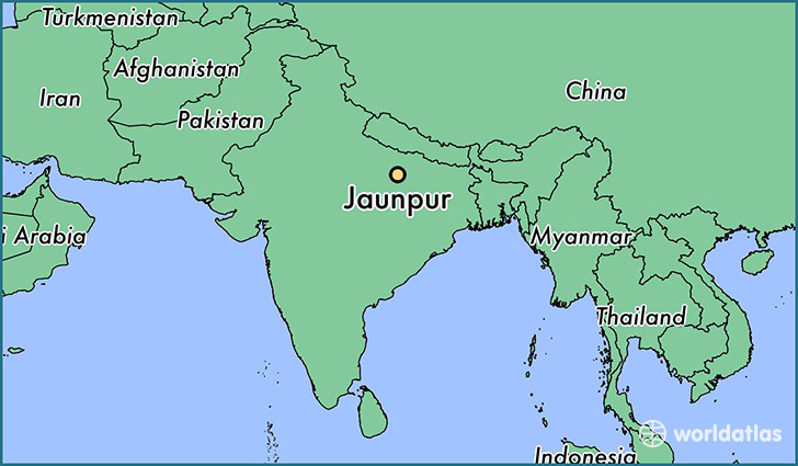 map showing the location of Jaunpur