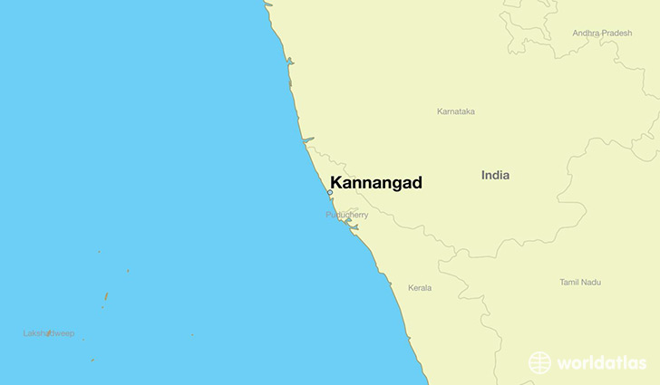 map showing the location of Kannangad