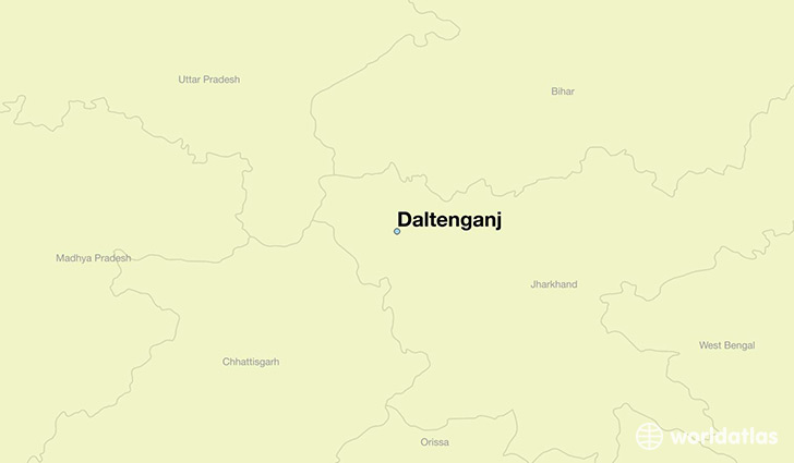 map showing the location of Daltenganj
