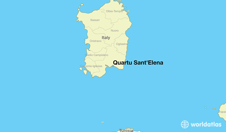 map showing the location of Quartu Sant'Elena